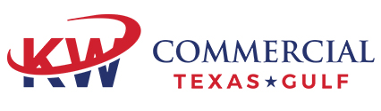 KW Commercial Texas Gulf Logo Red and Blue